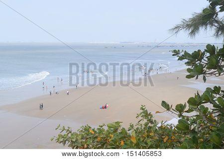 Aerial View Tropical Beach