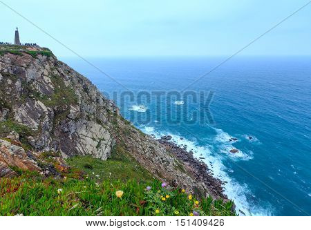 Atlantic Ocean Coast. Cape Roca, Portugal.