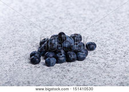 Heap of fresh juicy huckleberries