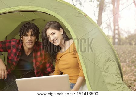 Campground with wifi connection