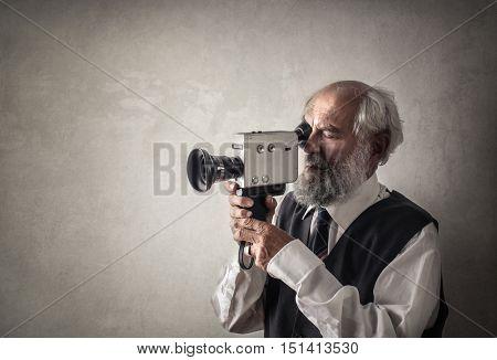 Retro filmmaker