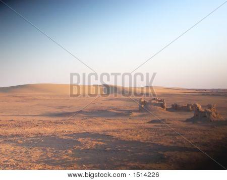 Small Old Egyptian Temples, Oasis Of Bahareyya, Lybian Desert, Egypt