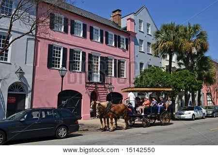 Rainbow Row and Tourism, Charleston, SC