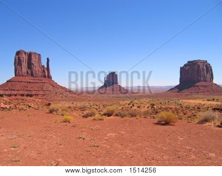 Three Red Peaks, Monument Valley National Park, United States