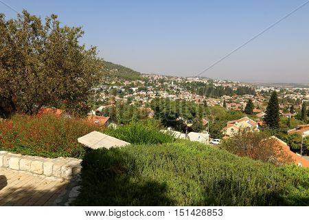 city of Rosh Pina is located slope of Mount Canaan in northern Israel