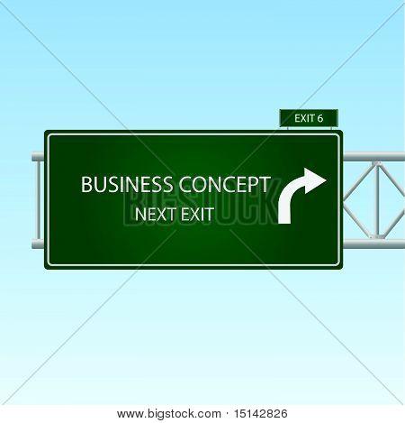 Sinal de conceito de negócio