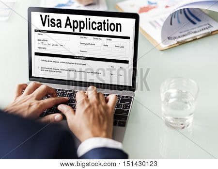 Visa Application Form Concept