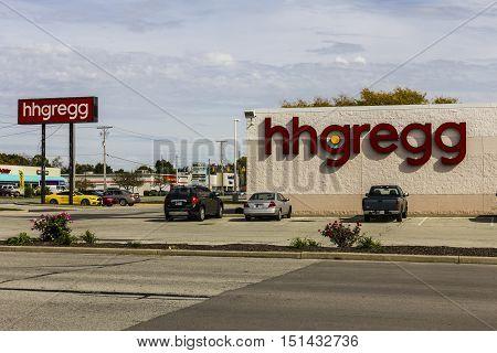 Kokomo - Circa October 2016: hhgregg location. hhgregg is a retailer of consumer electronics and home appliances IV