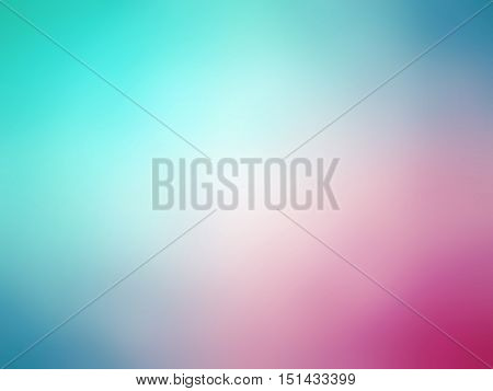 Abstract Gradient Pink Blue Teal Colored Blurred Background