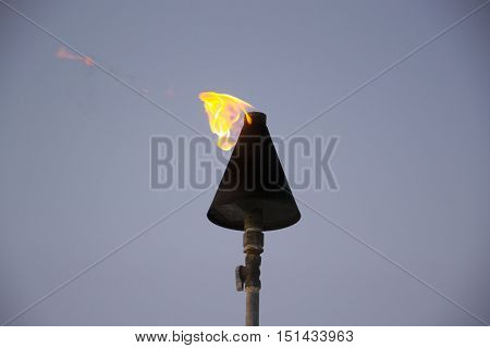 photo of a torch at the beach