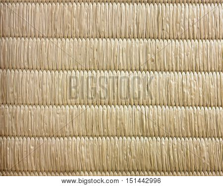 Top View Of Tatami Japanese Mat Texture Background No Gradient Light