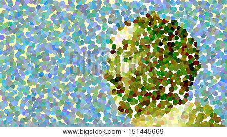 White Buddha Custom made photo art, abstract and color blurred.