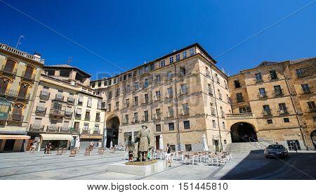 Plaza Del Poeta Iglesias In Salamanca, Spain