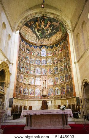 15Th Century Retable Of The Old Cathedral Of Salamanca