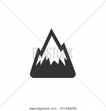 Mountain Icon isolated on a white background. Mountain Logo design vector template. Simple Logotype concept icon. Symbol, sign, pictogram, illustration - stock vector