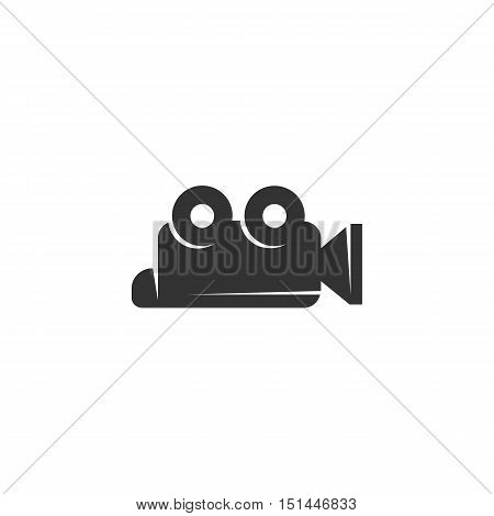 Video Camera Icon isolated on a white background. Video Camera Logo design vector template. Simple Logotype concept icon. Symbol, sign, pictogram, illustration - stock vector