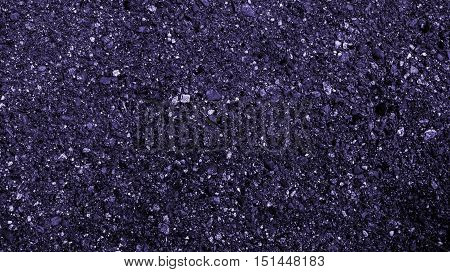 Asphalt, asphalt texture, scabrous asphalt background, asphalt pattern, abstract background, coloured dark violet asphalt pattern, urban background, grunge background texture
