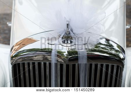 ROME ITALY - JUNE 13 2015: Bentley S1 Continental as the car of the newly married couple in Rome. Italy