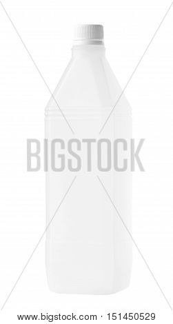 Rectangular Plastic Bottle isolated on white background