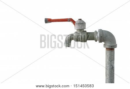 Water Tap isolated on white background with clipping paths