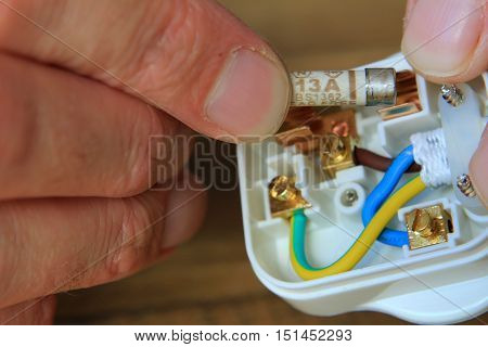 Replacing The Fuse In A Uk 13 Amp Domestic Electric Plug