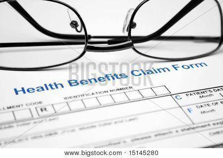 Formulario de reclamo de beneficios de salud