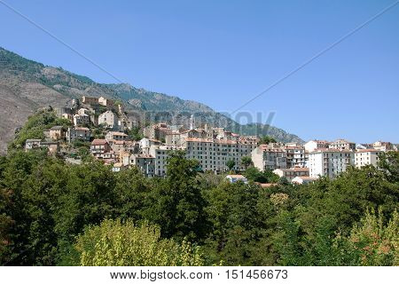 Corte - beautiful medieval town in French island of Corsica