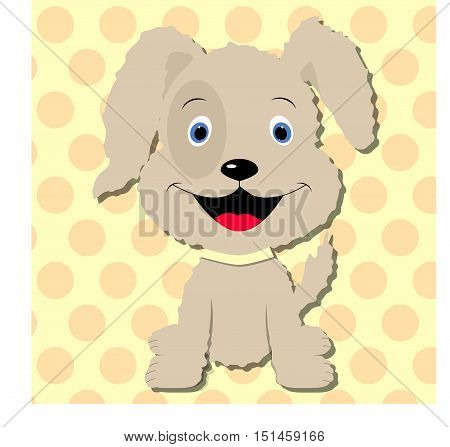 cute puppy dog baby Template for design and decoration. cute sticker album, scrapbook. Baby vector illustration.