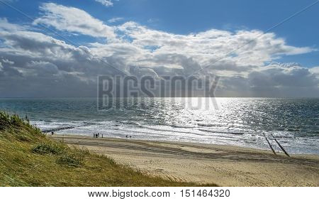 coastal scenery at a beach in the Netherlands
