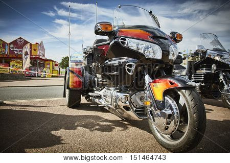 Skegness, UK,  September 2016. Honda Goldwing Trike On Display Prior to Light Parade.