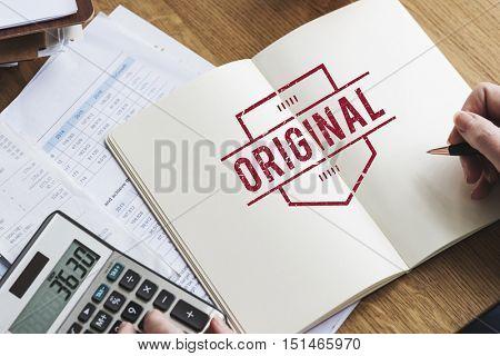 Original Approved Guarantee Brand Label Concept