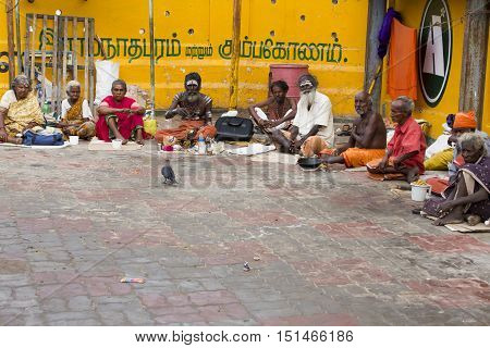 Rameswaram, Tamil Nadu, India - May 25, 2014. Full report about Rameswaram pilgrimage, religion Religious city rituals