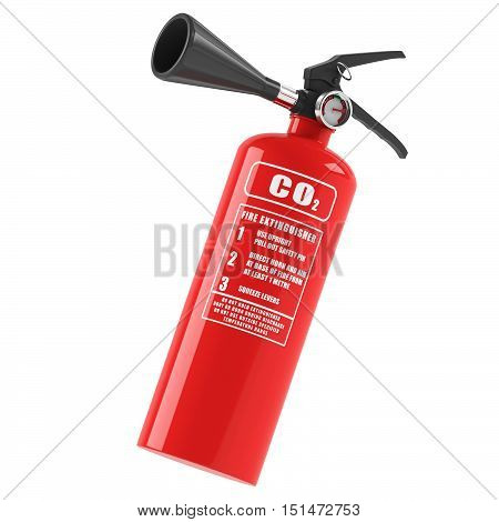 Fire extinguisher on a white background. 3D rendering