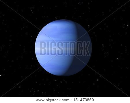 3d rendering of the planet Uranus Elements of this image furnished by NASA