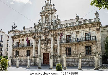 Ancient university in Valladolid Castilla y Leon Spain