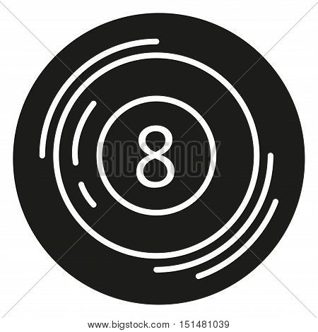 Icon. Billiard ball. Icon in a linear style. Vector illustration isolated on white background.