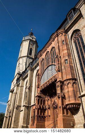 the city Church of Jena on a sunny day after restoration
