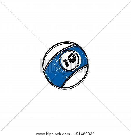 Billiard Ball Sketch Grungy Doodle