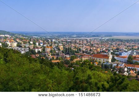 Szekszard panorama from the top of the Calvary Hill