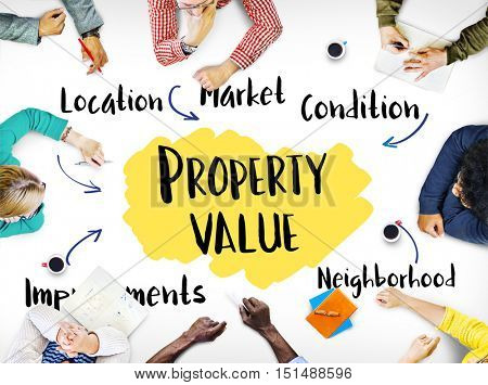 Property Value Market Diagram Concept