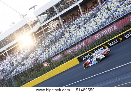 Concord, NC - Oct 09, 2016: Ray Black Jr (07) brings his race car through the turns during the Drive for the Cure 300 at the Charlotte Motor Speedway in Concord, NC.