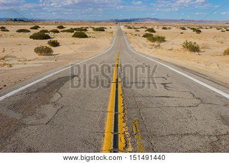Empty Desert Wilderness Road