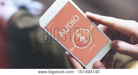 Audio Record Application Sound Concept
