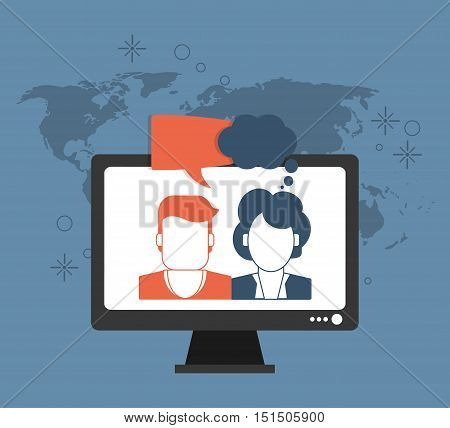 person avatar with messaging related icons image vector illustration design