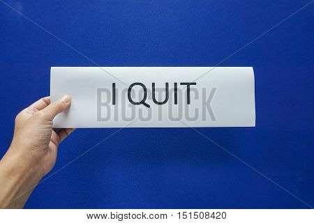 concept of business people quit from the job