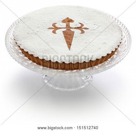 tarta de santiago, spanish almond cake