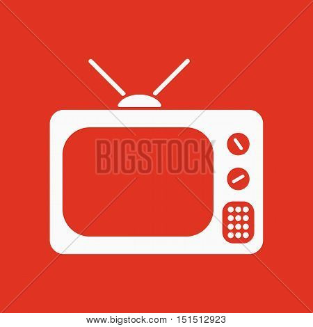 The tv icon. Television symbol. Flat Vector illustration