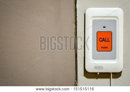 Emergency/Nurse call button. dark tone. Healthcare equipment.
