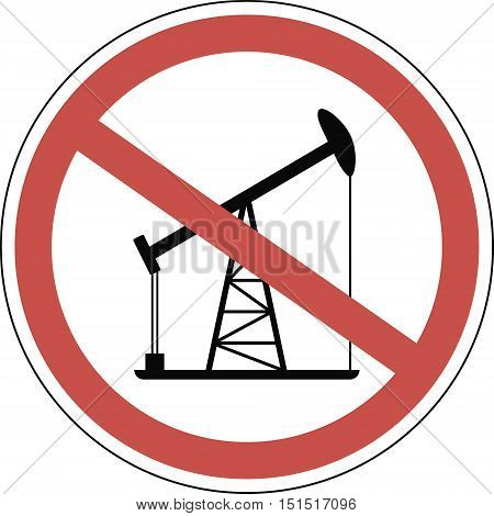 mark the end of the oil era strikeout oil rig vector