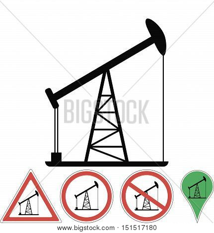 the oil rig, vector signs of the oil rig